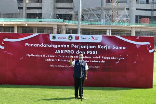 PSSI teken kerja sama dengan Jakpro untuk optimalisasi JIS