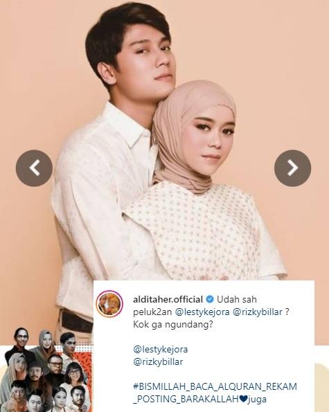 Aldi Taher colek Rixky Billar dan Lesti Kejora di Instagram. (Foto: Instagram/@alditaher.official)