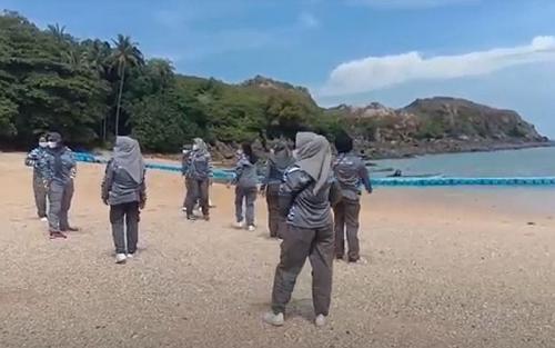 Pulau Jemur yang berbatasan dengan Malaysia