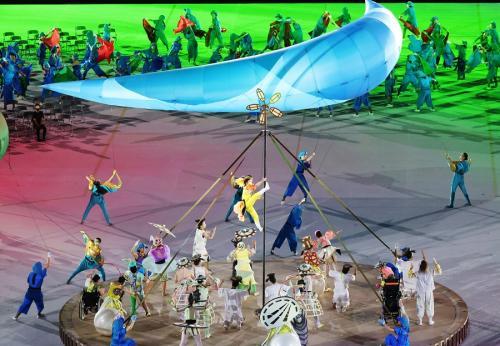 Upacara pembukaan Paralimpiade Tokyo 2020 (Foto: Reuters)