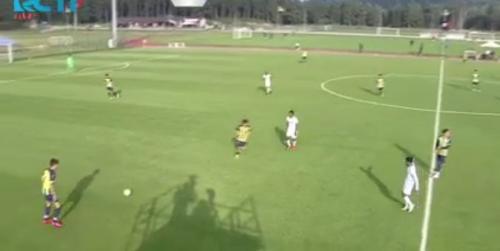 Fenerbahce unggul atas RANS Cilegon FC di babak pertama (Foto: RCTI+)