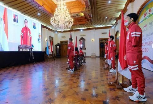 Kontingen Indonesia di Paralimpiade Tokyo 2020. (Foto: Instagram/@npcindonesia)