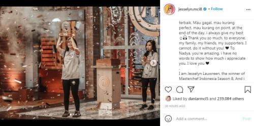 Jesselyn Juara MasterChef Indonesia