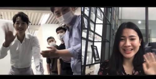 Felicya Angelista Video Call Bareng Song Joong Ki