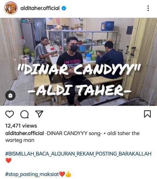 Aldi Taher ciptakan lagu untuk Dinar Candy. (Foto: Instagram/@alditaher.official)