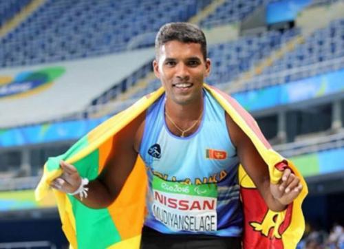 Dinesh Priyantha Herath peraih medali emas pertama untuk Sri Lanka di Paralimpiade Tokyo 2020 (Foto: Twitter/@MoYs_SriLanka)