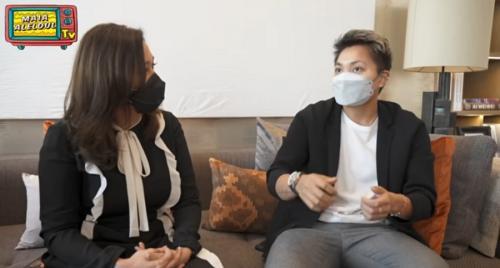 Maia Estianty dan Apriyani Rahayu (Foto: Youtube MAIA ALELDUL TV)
