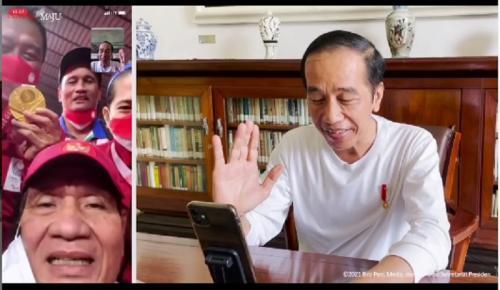 Presiden Joko Widodo video call peraih medali emas Paralimpiade Tokyo 2020