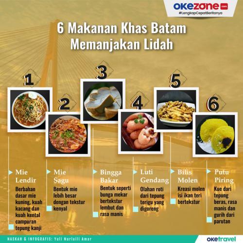 Infografis Makanan Khas Batam