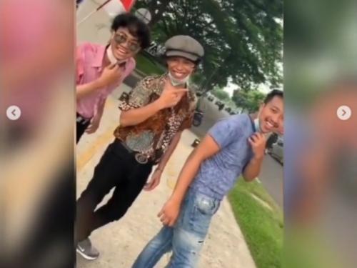 Viral tiga pemuda mirip Dono, Kasino, Indro. (Foto: Instagram @tante_rempong_)