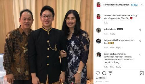 Hermawan Susanto dan keluarganya (Foto: Instagram)