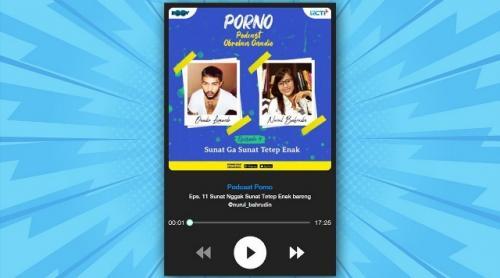 Podcast Porno bersama Onadio Leonardo dan Nurul Bahrudin. (Foto: RCTI Plus)