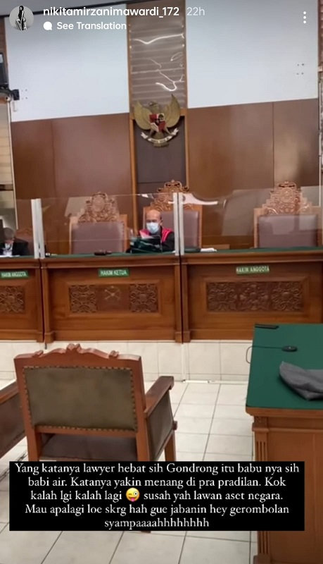 Nikita Mirzani cibir Dipo Latif setelah gugatan praperadilannya ditolak PN Jaksel. (Foto: Instagram/@nikitamirzanimawardi_17)