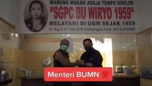 Viral warung pecel langganan para menteri. (Foto: TikTok @kerjabanget)