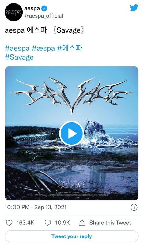 Aespa bakal merilis mini album perdana mereka, Savage. (Foto: Twitter/@aespa_official)