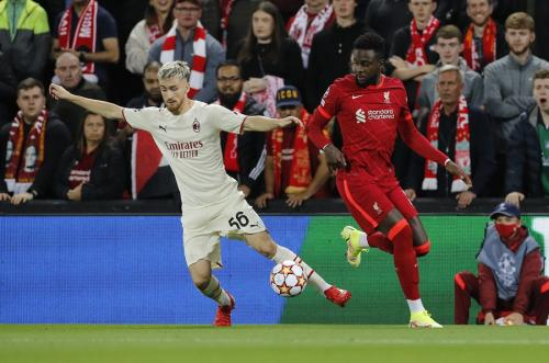 Divock Origi vs AC Milan (Foto: Reuters)