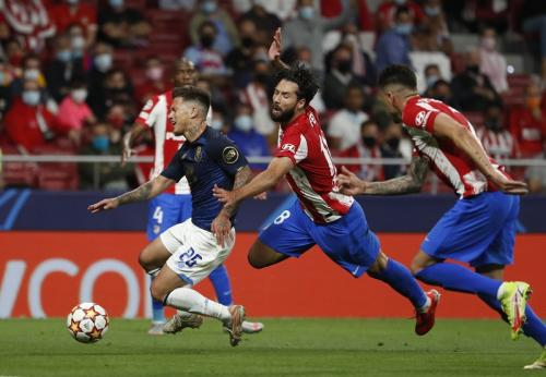 Laga Atletico Madrid vs Porto di Liga Champions. (Foto: Reuters)