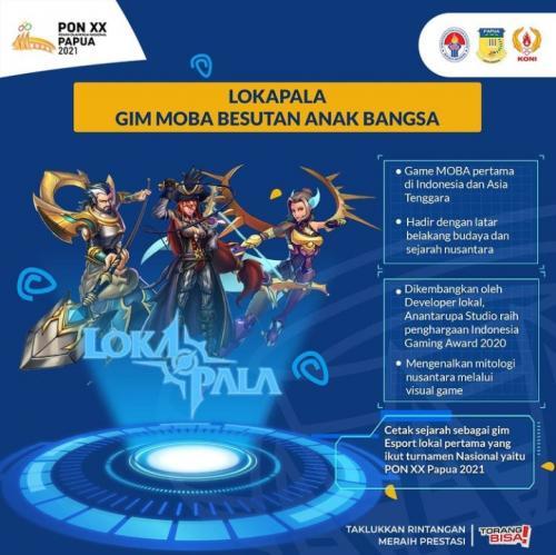 Lokapala game moba buataan Indonesia (Foto: Instagram/@ponxx2020papua)