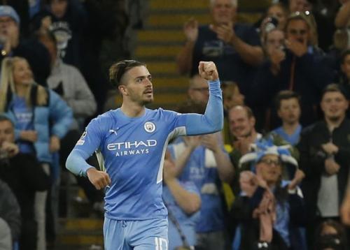 Laga Manchester City vs RB Leipzig di Liga Champions. Foto: Reuters