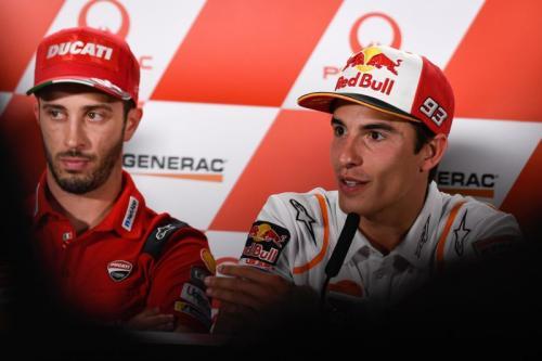 Andrea Dovizioso dan Marc Marquez (Foto: MotoGP)
