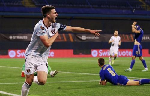 Laga Dinamo Zagreb vs West Ham United di Liga Eropa. Foto: Reuters