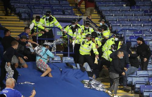 Laga Leicester City vs Napoli di Liga Eropa. Foto: Reuters