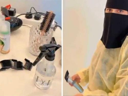 Viral Wafa Saqer wanita tukang cukur pertama di Arab Saudi. (Foto: Gulfnews)