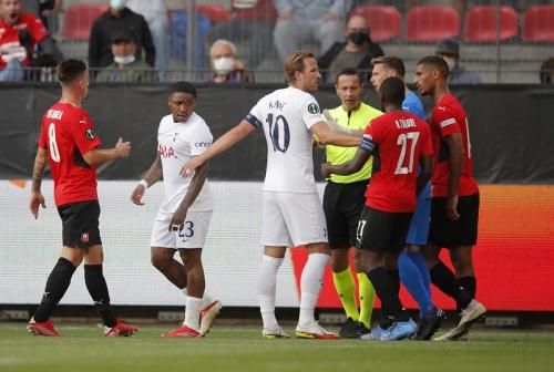 Rennes vs Tottenham Hotspur di Liga Konferensi Eropa. Foto: Reuters