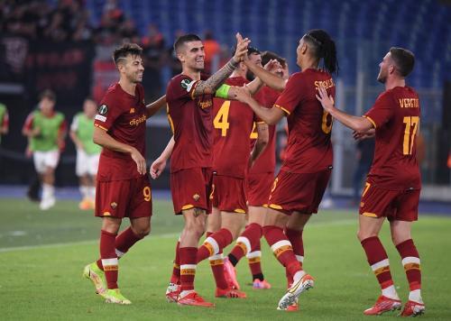 Laga AS Roma vs CSKA Sofia di Liga Konferensi Eropa. Foto: Reuters
