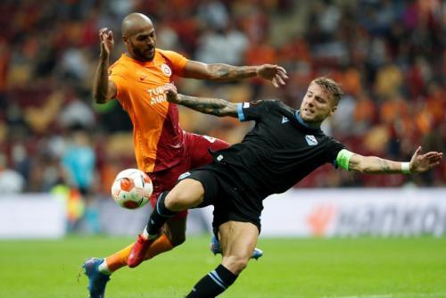 Laga Galatasaray vs Lazio di Liga Eropa. Foto: Reuters