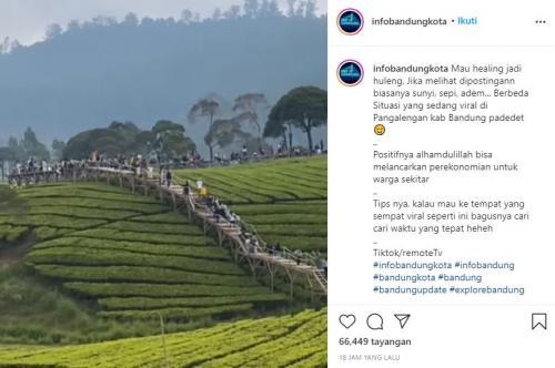 Viral Nuansa Riung Gunung Diserbu Wisatawan