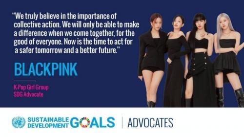 BLACKPINK ditunjuk sebagai advocate SDGs untuk PBB. (Foto: PBB)