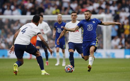 Laga Tottenham Hotspur vs Chelsea di Liga Inggris. Foto: Reuters