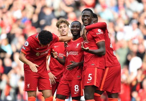 Para pemain Liverpool. Foto: Reuters