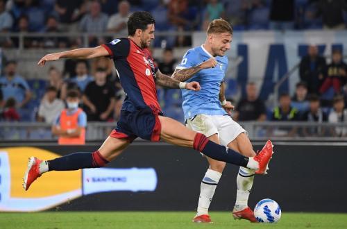 Lazio vs Cagliari di Liga Italia. Foto: Reuters