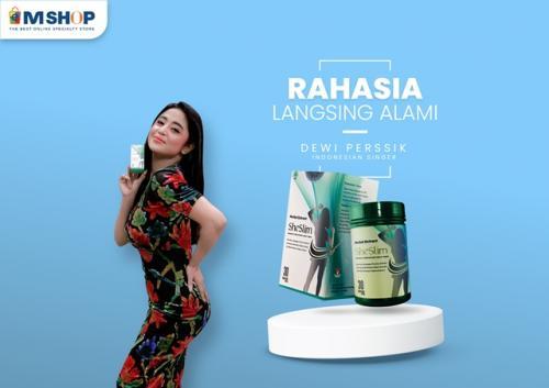 Dewi Perssik gunakan She Slim Herbal Slimming Diet. (Foto: eMShop)