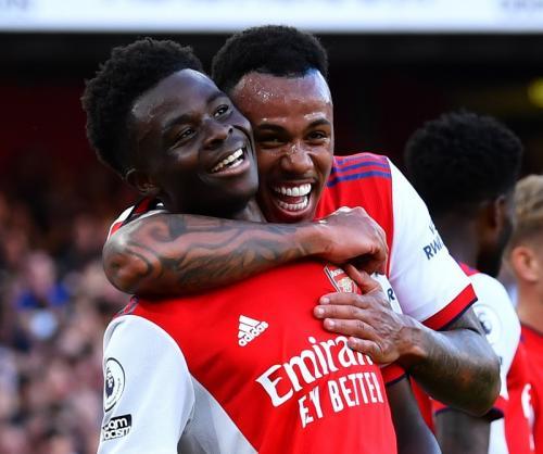 Laga Arsenal vs Tottenham Hotspur di Liga Inggris 2021-2022. Foto: Reuters