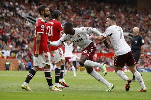 Momen gol Hause di laga Man United vs Aston Villa
