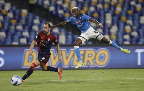 Momen saat para pemain Napoli beraksi