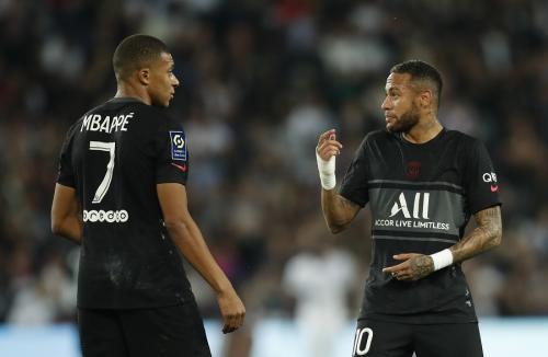 Neymar Jr dan Kylian Mbappe