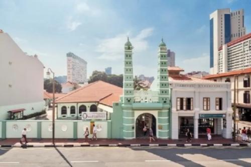 Masjid Jamae (Chulia) di Chinatown Singapura. (Foto: Singapore Tourism Board/Antara)