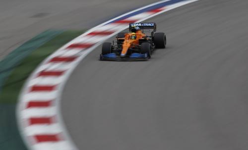 Lando Norris di F1 GP Rusia 2021 (Foto: Reuters)