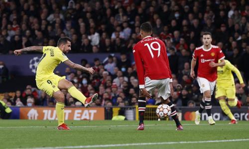 Laga Manchester United vs Villarreal di Liga Champions 2021-2022. Foto: Reuters