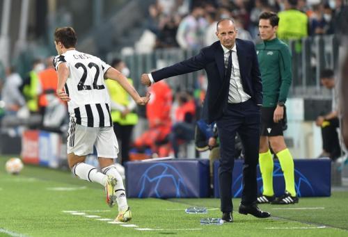 Allegri dan Chiesa di laga Juventus vs Chelsea