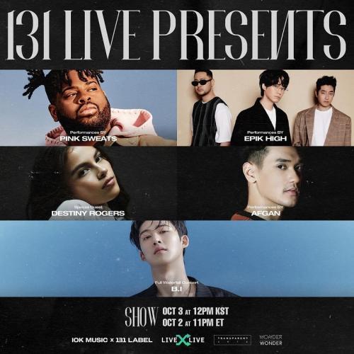 Afgan dan Kim Hanbin akan tampil dalam konser virtual 131 Live Presents. (Foto: Instagram/@afgan_)