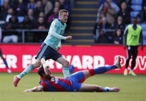 Jamie Vardy vs Crystal Palace (Foto: Reuters)