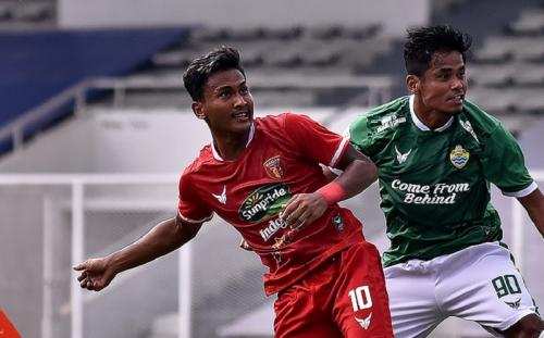 Badak Lampung vs PSKC Cimahi. Foto: Twitter/@liga2match