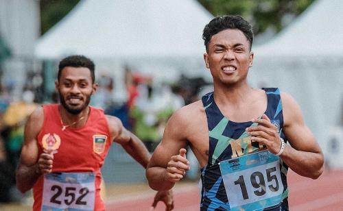 Lalu Muhammad Zohri di PON XX Papua 2021. Foto: Laman resmi PON XX Papua 2021