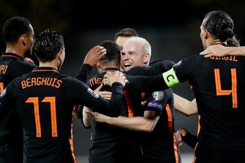 Timnas Latvia vs Timnas Belanda di Kualifikasi Piala Dunia 2022 Zona Eropa. Foto: Twitter/@onsoranje