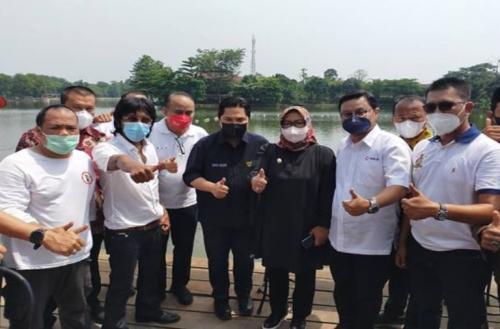 Erick Thohir resmikan desa wisata Pamegarsari